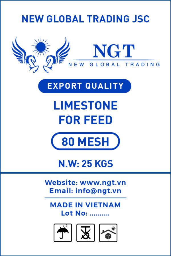 Limestone 80 Mesh Powder for Animal Feed - Poultry & Fish