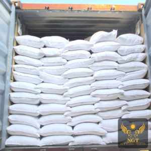 NGT Loading Quicklime for Paper in 25:50 Kg PP Bag for Container Shipment